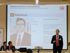 Image of German ombudsman at project kick-off meeting