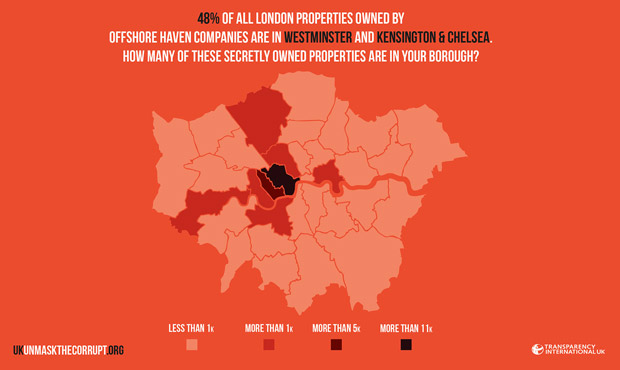 Property map of London