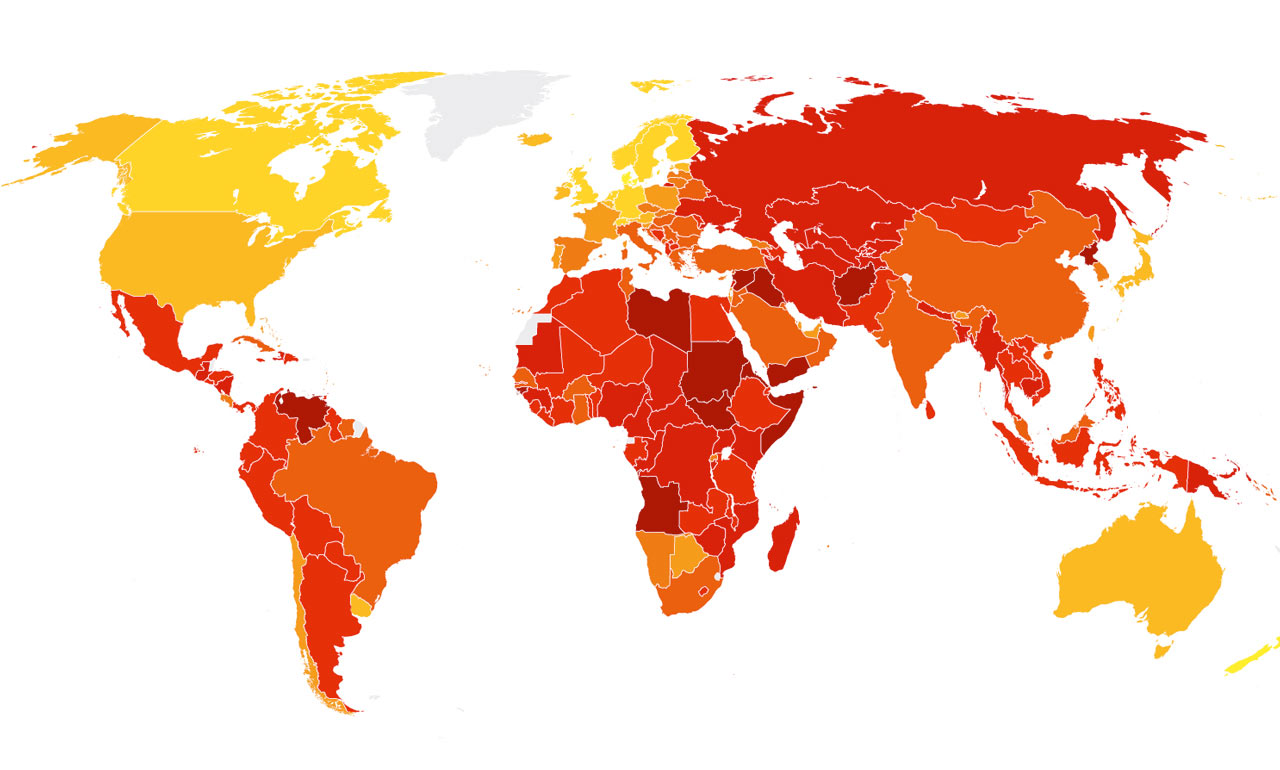 Corruption Perceptions Index 2016 - Transparency International