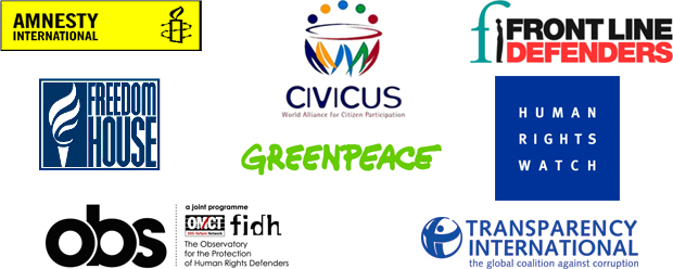 Logos of NGOs signing joint statement