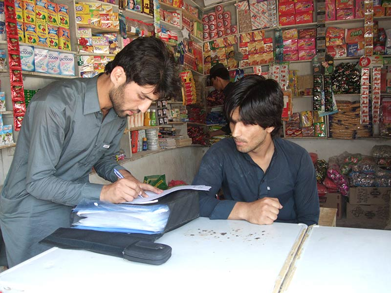 Survey in action in Pakistan. Copyright: Transparency International Pakistan