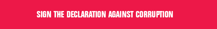 Sign the declaration against corruption, banner