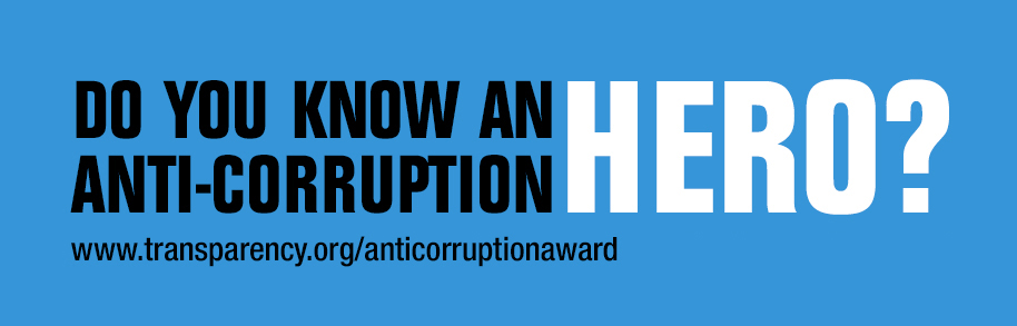Anti-Corruption Award 2016 banner
