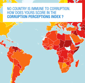 Corruption Perceptions Index 2012 banner