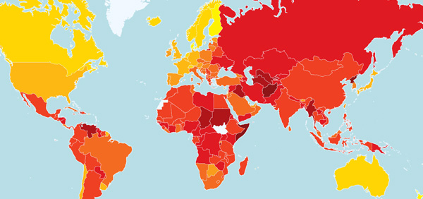 How does your country rank in terms of public sector corruption? Find out in our 2012 Corruption Perceptions Index