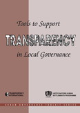 Tools to support transparency in local governance, cover